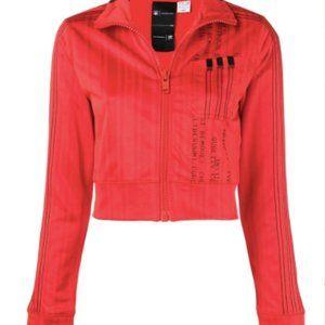 Adidas X Alexander Wang Red Cropped Jacket